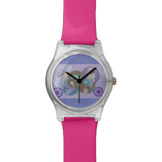 Psychedelic fun wristwatch