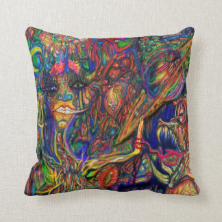 Psychedelic Funk Throw Pillow