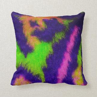 Psychedelic Fur faux fun sofa chair throw pillow