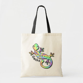 Psychedelic Gecko Tote Bag