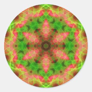 Psychedelic Geometric Fluro Weave Sticker