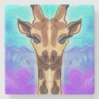 Psychedelic Giraffe Stone Coaster