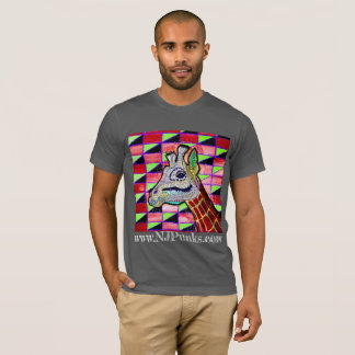 Psychedelic Giraffe T-Shirt By NJPunks