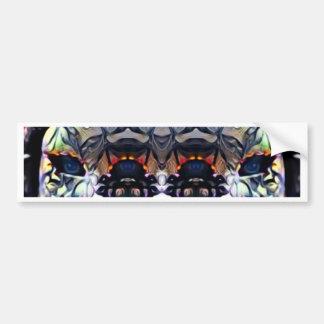 Psychedelic Girl Bumper Sticker