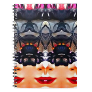 Psychedelic Girl Notebooks