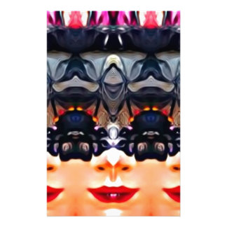Psychedelic Girl Stationery
