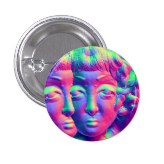 Psychedelic Glisthe badge 1 Inch Round Button