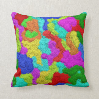 Psychedelic Glitter Pattern Pillow
