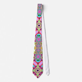 Psychedelic Glow Colourful Fashion Groovy Tie