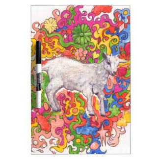 Psychedelic Goat Dry-Erase Board