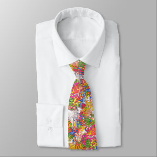 Psychedelic Goat Tie