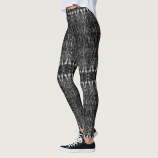 Psychedelic Gothic stained glass witchy Leggings