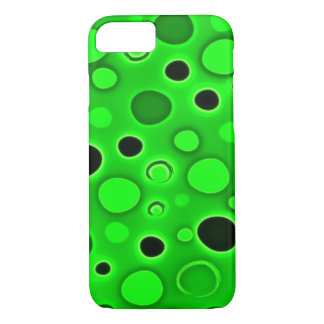 Psychedelic Green Lava Lamp Bubbles iPhone 7 Case