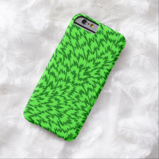 Psychedelic Green Lightning bolts iPhone 6 Case