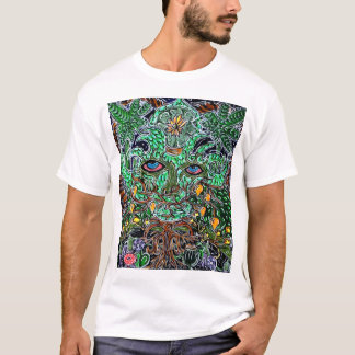psychedelic green man T-Shirt