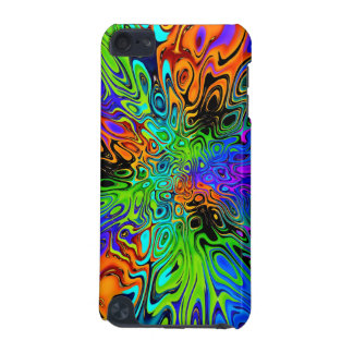 Psychedelic green orange purple iPod touch (5th generation) covers