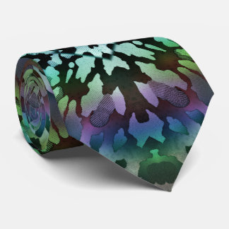 Psychedelic Green Tie-Dye Wild Tribal Abstract Tie