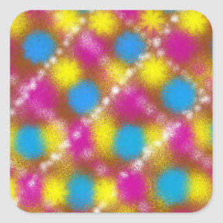 Psychedelic Grill Square Sticker