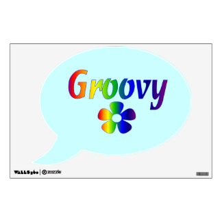 Psychedelic Groovy Flower Wall Decal