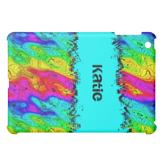 Psychedelic Groovy Retro Cover Colorful grunge 2 iPad Mini Cover