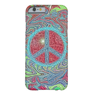 Psychedelic Groovy Trippy Peace Sign Barely There iPhone 6 Case