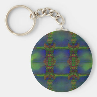 Psychedelic Guard Basic Round Button Keychain