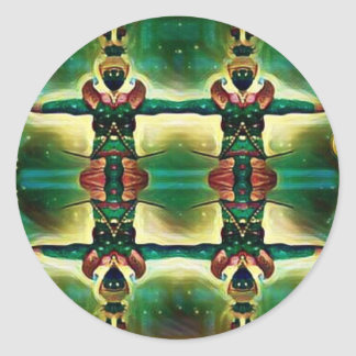 Psychedelic Guard Classic Round Sticker
