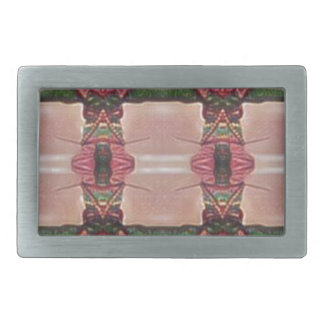 Psychedelic Guard Rectangular Belt Buckle