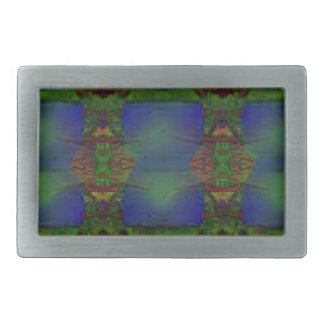 Psychedelic Guard Rectangular Belt Buckles