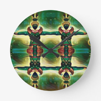 Psychedelic Guard Round Clock