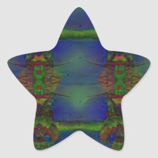 Psychedelic Guard Star Sticker