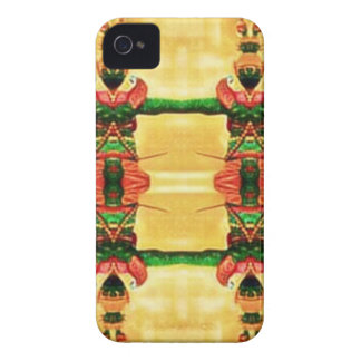 Psychedelic Guard Yellow Green Case-Mate iPhone 4 Cases