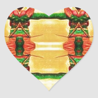 Psychedelic Guard Yellow Green Heart Sticker