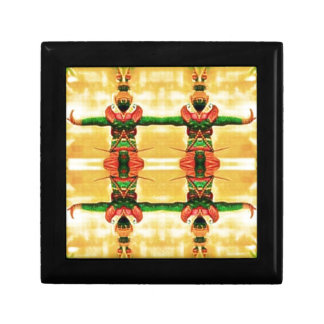 Psychedelic Guard Yellow Green Keepsake Box