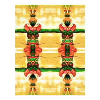 Psychedelic Guard Yellow Green Letterhead