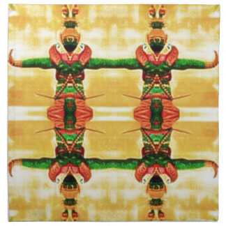 Psychedelic Guard Yellow Green Napkin