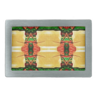 Psychedelic Guard Yellow Green Rectangular Belt Buckle