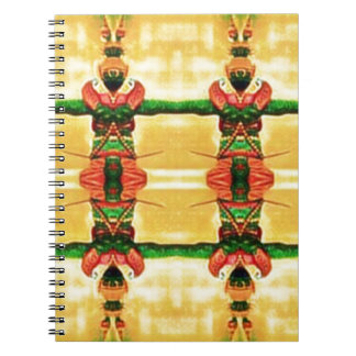 Psychedelic Guard Yellow Green Spiral Notebook