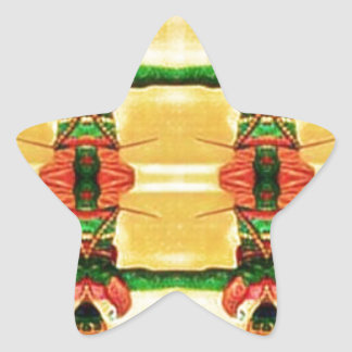 Psychedelic Guard Yellow Green Star Sticker