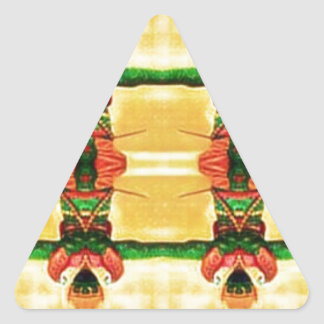 Psychedelic Guard Yellow Green Triangle Sticker