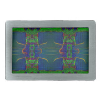 Psychedelic Guards Rectangular Belt Buckles