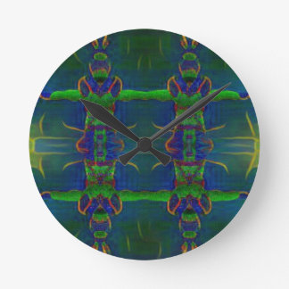 Psychedelic Guards Round Clock