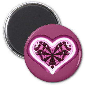 Psychedelic Heart Magnet