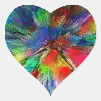 Psychedelic Heart Sticker