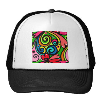 Psychedelic Hearts Trucker Hat