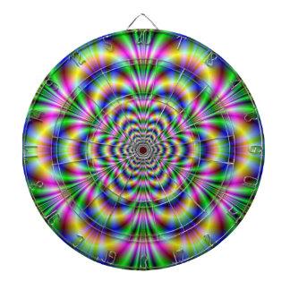Psychedelic Hexagon Dartboard