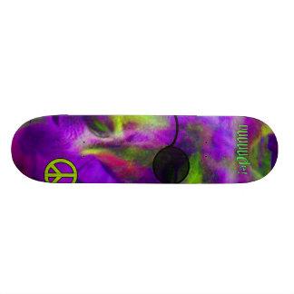 Psychedelic Hippie Peace Loving Kangaroo, Dude! Custom Skateboard