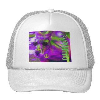Psychedelic Hippie Peace Loving Kangaroo, Dude! Hats