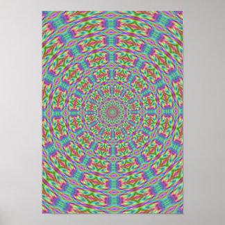 Psychedelic Hippie Retro Poster