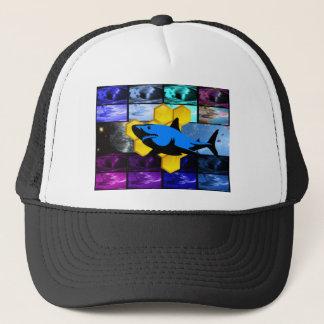 Psychedelic Honey Shark Hat